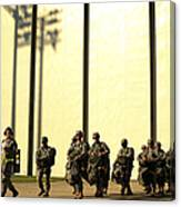U.s. Army Soldiers Prepare To Board Canvas Print