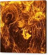 Venus, Synthetic Aperture Radar Map Canvas Print