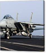 An F-14d Tomcat On The Flight Deck Canvas Print