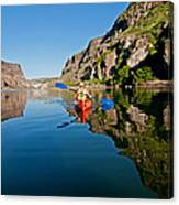 Kayaking Canvas Print