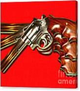 357 Magnum - Painterly - Red Canvas Print