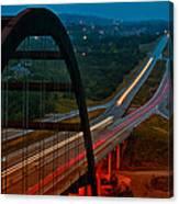 360 Bridge Morning Traffic Canvas Print