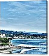 372 Hdr - Sunday At The Beach 1 Canvas Print