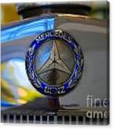 39 Mercedes-benz Logo Canvas Print
