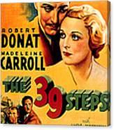 39 Steps, The, Robert Donat, Madeleine Canvas Print