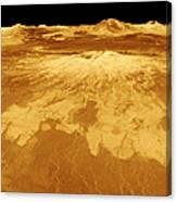 3d Perspective View Of Sapas Mons Canvas Print