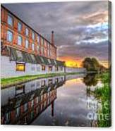 3m Building Sunrise Canvas Print
