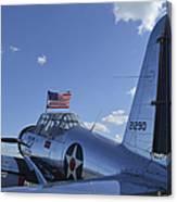 A Bt-13 Valiant Trainer Aircraft Canvas Print