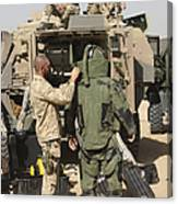 A U.s. Marine Gets Suited Canvas Print