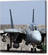 An F-14d Tomcat In Launch Position Canvas Print