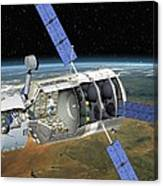Atv Docked To The Iss, Artwork Canvas Print