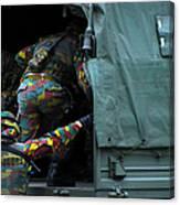 Belgian Paracommandos Entering Canvas Print
