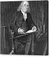 Benjamin Franklin, American Polymath Canvas Print