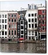 City Scenes From Amsterdam Canvas Print