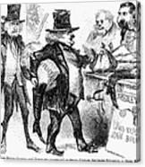 Civil War: Cartoon, 1861 Canvas Print