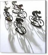Cyclists Canvas Print