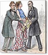 Election Cartoon, 1876 Canvas Print