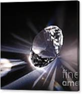 Faceted Quartz Gem Canvas Print