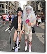 Gay Pride Couples Nyc 2011 Canvas Print