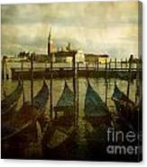 Gondolas. Venice Canvas Print