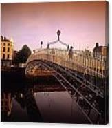 Hapenny Bridge, River Liffey, Dublin Canvas Print