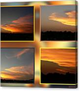 4 In 1 Sunsets Canvas Print
