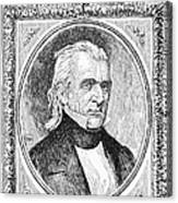 James K. Polk (1795-1849) Canvas Print