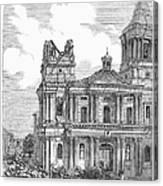 Manila: Earthquake, 1863 Canvas Print