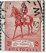 old Australian postage stamp Canvas Print
