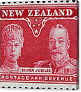 old New Zealand postage stamp Canvas Print