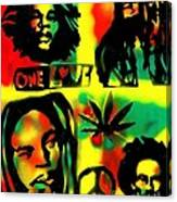 4 One Love Canvas Print