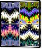 4 Panel Look Hearts Ud Fractal 64 Canvas Print