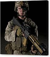 Portrait Of A U.s. Marine Wearing Night Canvas Print