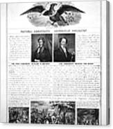 Presidential Campaign 1840 Canvas Print