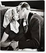 Silent Film Still: Kissing Canvas Print