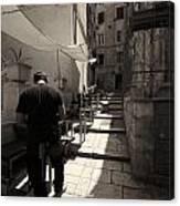 Split Old Town Canvas Print