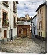 Street In Historic Albaycin In Granada Canvas Print