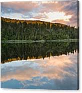 Sunrise Above A Lake On A Wind Still Morning Canvas Print