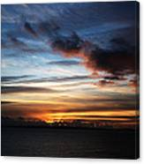 Sunset Over Poole Bay Canvas Print