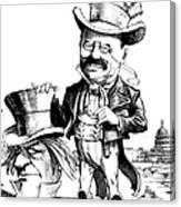 Teddy Roosevelt Cartoon Canvas Print