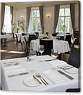 Upscale Hotel Dining Room Canvas Print