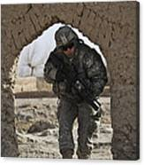 U.s. Army Soldier Provides Security Canvas Print