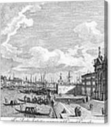 Venice: Grand Canal, 1742 Canvas Print
