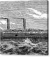 4 Wheel Steamship, 1867 Canvas Print