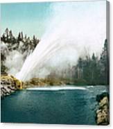 Yellowstone Park: Geyser Canvas Print