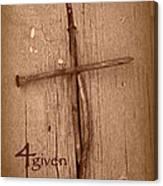 4given Forgiven Canvas Print