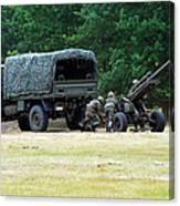 A Belgian Artillery Unit Setting Canvas Print