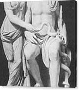Aesculapius, Greek God Of Medicine Canvas Print
