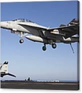 An Fa-18f Super Hornet During Flight Canvas Print