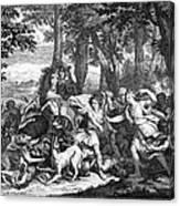 Atalanta And Meleager Canvas Print
